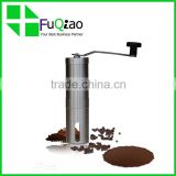 Trade Assurance FDA Grade Ceramic Burr Stainless Steel Manual home Coffee Mill with spoon                                                                         Quality Choice