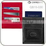 New design whloesale RFID blocking leather passport holder sleeve with card holder ID window