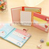 New Two folder cute memo pad. printed in different size, hardcover