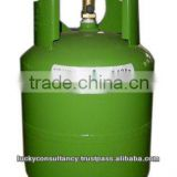 Pure (99.98%) R407c Refrigerant in 10kgs net weight CE refillable cyl for European market