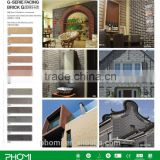 Flexible clay modern house design unique clay facing bricks for wall and floor decoration
