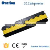 cable protector Yellow and black shell cover made of high strength PVC C-2 protector outdoor use from China factory