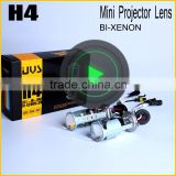 2016 HIGH QUALITY H4 HID Bi-xenon Projector Lens Universal Auto Headlamp Use H4 HID Xenon Lamp with hid ballast for cars
