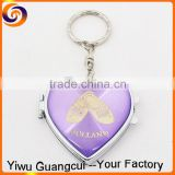 2016 hotsale holland souvenirs heart shape lady gift mirror keychain                                                                         Quality Choice