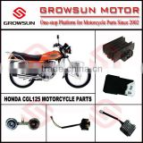 Hon. CGL125 Motorcycle Spare Parts, horn, cdi, relay, regulator, ignition coil