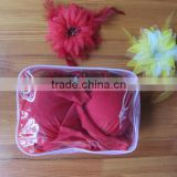 Customized PVC swimsuit packaging bag zip slide clear pvc packaging bag for swimwear bikini