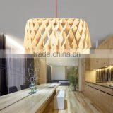 JK-8005B-07 High quality and fast delivery furniture light supplier basewood wooden ceiling pendant lamp for hotel project light