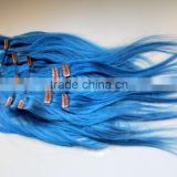 cheap price colored full head Clip on human hair extension in fashin colors                                                                         Quality Choice