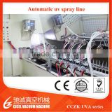 UV varnish sputtering system/Automatic UV coating machine/plastic spray painting line