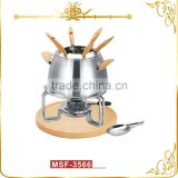 MSF-3566 Stainless steel mini cheese fondue set