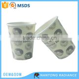 Wholesale Single Wall Disposable Foam Coated Paper Cup Coffee Cup