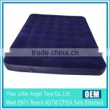 Navy Blue Flocking Inflatable PVC king size air bed