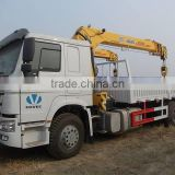 China top brand boom truck low price promotion!!!SINOTRUK chassis with XCMG crane boom truck