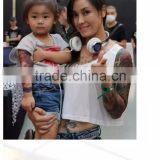 Fashion Custom Body Arm Belly Chest Temporary Gold Jewelry Tattoo Sticker Design Water Transfer 3D Printing