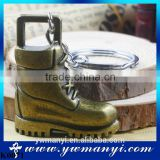 Fashion Zinc Alloy Key Chain Antique Plated Boots Keychain Souvenir Metal Creative Gift Keyring K0071