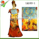 2016 latest design african women wear ladies african brocade bazin boubou dresses clothing