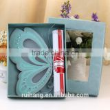 scroll wedding cards butterfly wedding invitation cards                                                                         Quality Choice