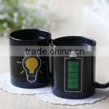 350ml battery magic mug/ Magical color changing color mug/Coffee Tea Milk Hot Cold Heat Sensitive Color-changing Mug Cup