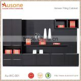 High Grade MDF Painted Black Filing Cabinet