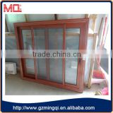 Wooden color aluminium frame sliding glass window                                                                                                         Supplier's Choice