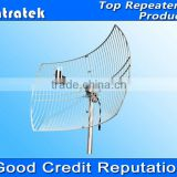 Long range signal booster amplifier antenna DCS WCDMA GSM Grid Parabolic Antenna 3G Antenna 2G Antenna N-Female Connector