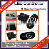LED Light Strip Remote Controller Redio Frequency Single Color Touch Control DC5V,12V,24V