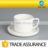 wholesale white ceramic coffee cup and saucer