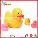Floating duck rubber animal bath plastic toy