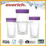 Water double wall 2016 heat-resistant drinking glass cup