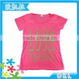 Chinese new arrival fashionable cute wholesale embellished graphic kids tee