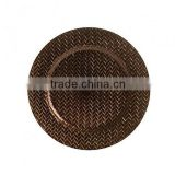 Decorative party rattan charger plates