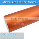 Fast Delivery CARLIKE Chrome Metallic Brush Orange Vinyl For Car Body Wrapping