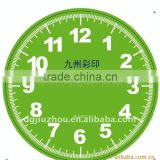 Single colour customized clock face with Arabic numerals