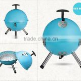 Top rated With High Quality Sky blue color 12''/14'' Round charcoal bbq grill