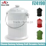 Kitchen Ceramic Compost Bin, Compost Bucket with lid