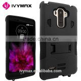 IVYMAX Free Sample Black Hybrid Rugged Shockproof Hard Box Case Cover With Stand For LG G Stylo / LG LS770 / LG G4 Stylus