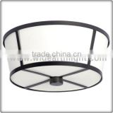 UL CUL Listed Flush Mount Ceiling Lighting Fixture With Cross Shaped Metal Strip Round Shade C50340