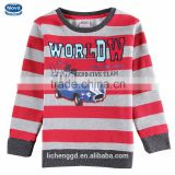 (A6740D)2015 nova new hot sale design autumn thick cotton t shirt pullover hoodie with printed car pattern kids boys clothing
