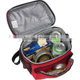 Aluminium Lining Picnic Lunch Insulated Cooler bag Warm Travel Messanger Pocket Bag QJ-H0102