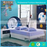 Charming smart kids bedroom furniture blue color boy bedroom set, cream colored bedroom sets