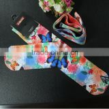quality digital print nylon polyester compression knee high sock for lady