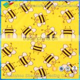 bee printing nylon spandex bikini fabric for kids