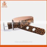 Horsehair leather belt leather bullet belt hot sale leather belt for sexy ladies