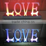 3D metal channel led channel LED light up wedding love letter /Frontlit punching love letter sign