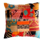 RTHCC-20 Kantha Stitching Latest Handmade Silk Patola Bengali cushion covers home Furnishing Manufacturer and Exporter