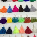 Mini Cotton Tassel With Iron Ring