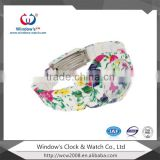 China factory custom face flower strap wrist watch                                                                                                         Supplier's Choice