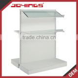 Factory OEM Floor Standing White Bakery Display Shelves