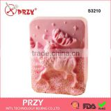 S3210 deer silicone mold for soap, christmas deer candles making mould , christmas deer soap mold                                                                                                         Supplier's Choice