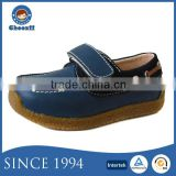 Wholesale Kids Baby Blue Suede Causal Boat Shoes with Plain Design